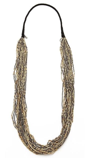 Chan Luu Metallic Beaded Necklace