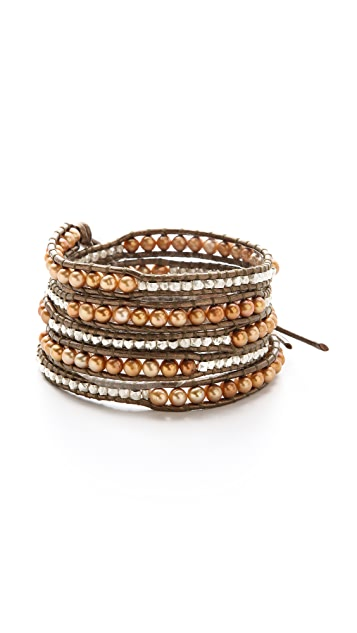 Chan Luu Graduated Bead Wrap Bracelet