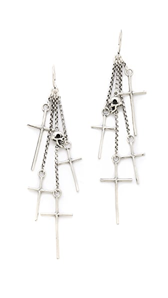 Chan Luu Cross Charm Earrings
