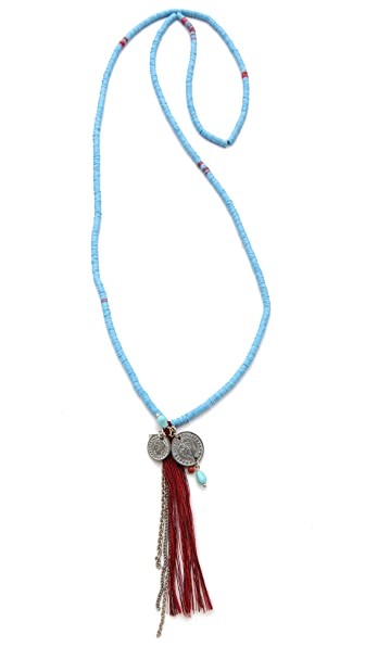 Chan Luu Tassel Charm Necklace