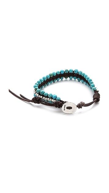 Chan Luu Turquoise Beaded Bracelet