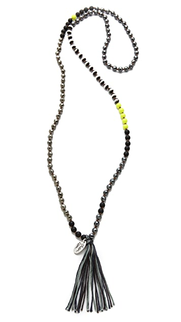 Chan Luu Beaded Necklace with Tassel