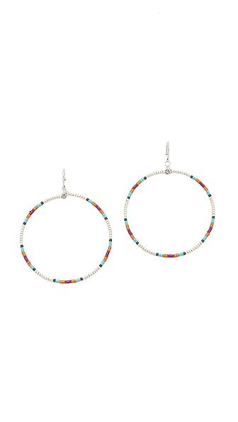 Chan Luu Beaded Hoop Earrings