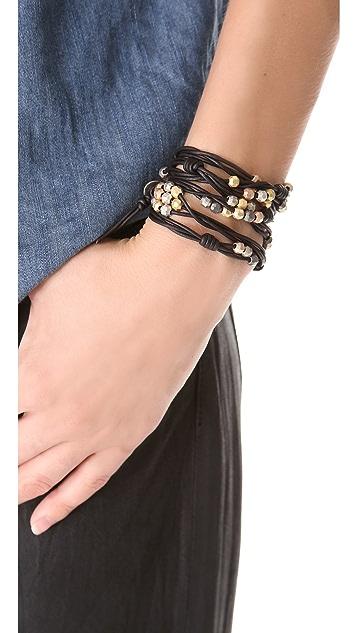 Chan Luu Beaded Cluster Wrap Bracelet