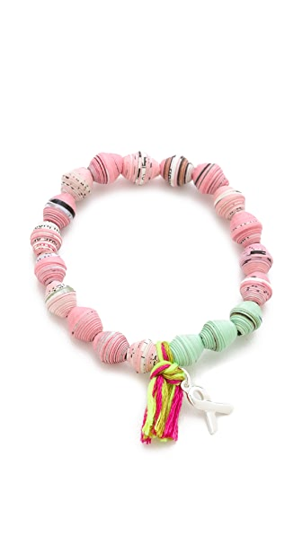Chan Luu Breast Cancer Awareness Stretch Bracelet