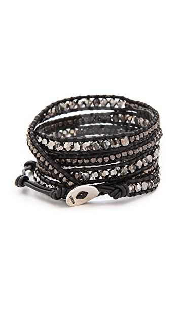 Chan Luu Night Beaded Wrap Bracelet