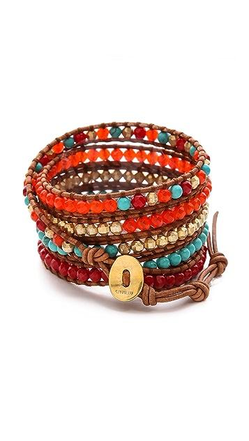 Chan Luu Multicolor Beaded Wrap Bracelet