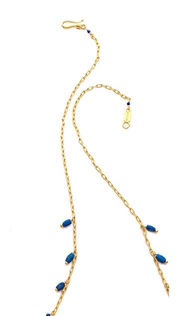 Chan Luu Lapis Tassel Necklace