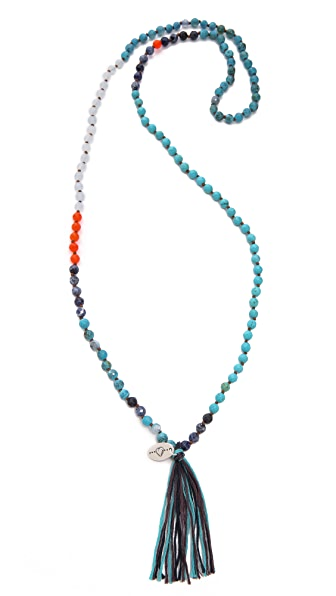 Chan Luu Beaded Tassel Necklace