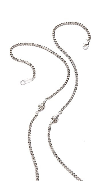 Chan Luu Leather Tassel Charm Necklace