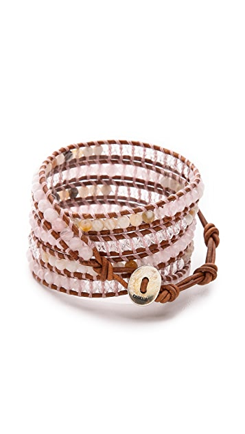 Chan Luu Rose Quartz Wrap Bracelet