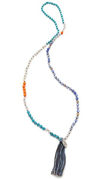 Chan Luu Tassel Beaded Necklace