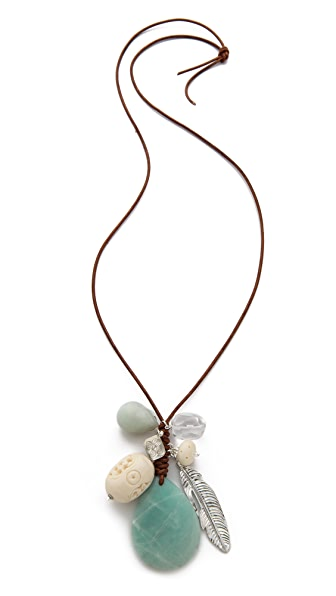 Chan Luu Amazonite Charm Necklace