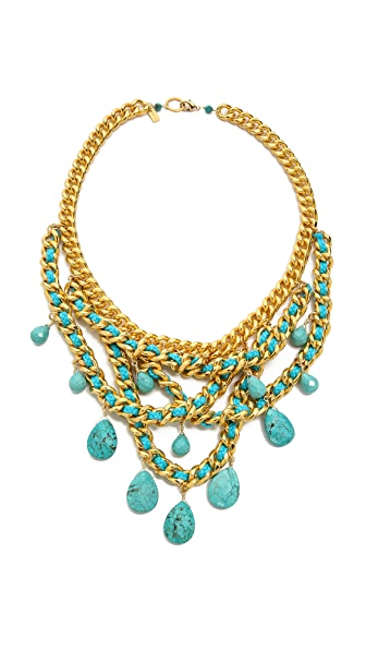 Chan Luu Teardop Gem Chain Necklace