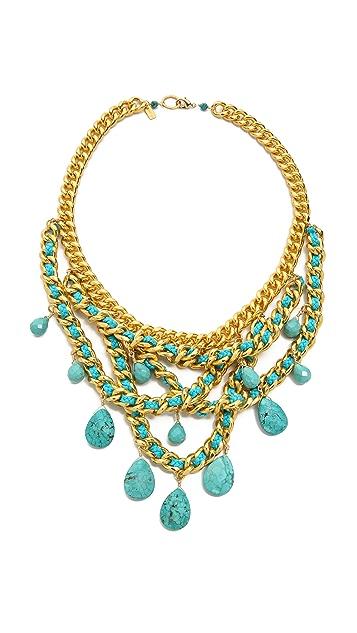 Chan Luu Teardop Gem Chain Necklace