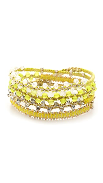 Chan Luu Interval Beaded Wrap Bracelet