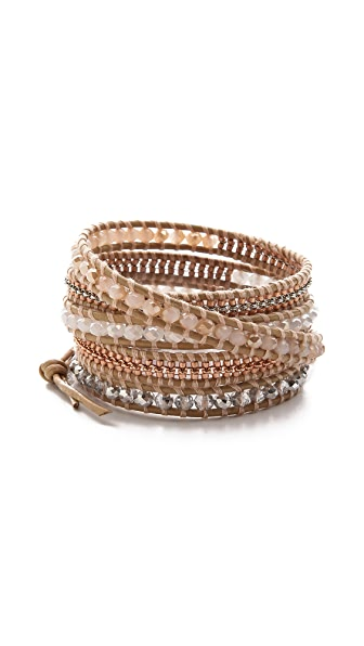 Chan Luu Natural Beaded Wrap Bracelet
