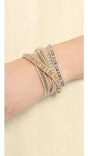 Chan Luu Natural Beaded Wrap Bracelet