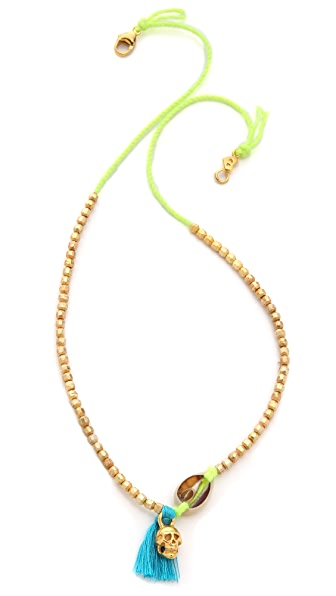 Chan Luu Charm Beaded Necklace