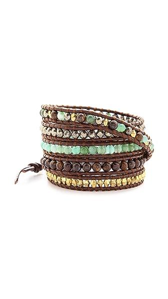 Chan Luu Chrysoprase Beaded Wrap Bracelet