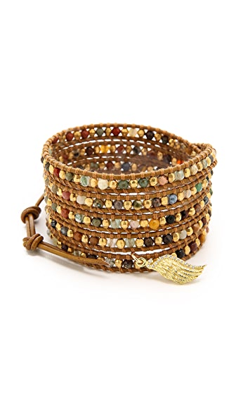 Chan Luu Wing Charm Wrap Bracelet