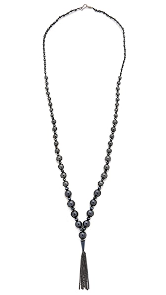 Chan Luu Chain Tassel Beaded Necklace