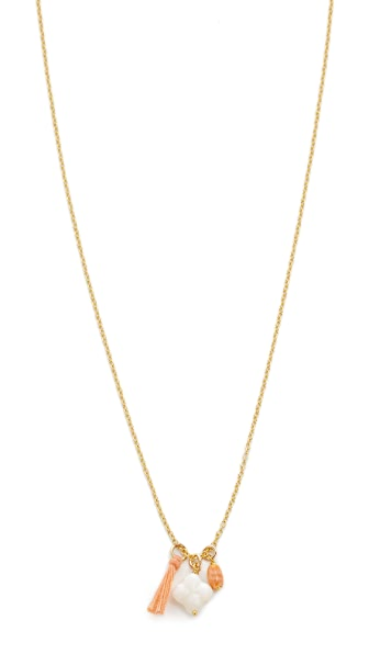 Chan Luu Clover Tassel Necklace