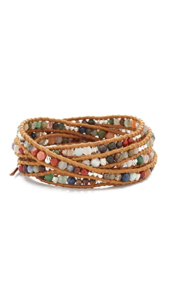 Chan Luu Multi Henna Beaded Wrap Bracelet