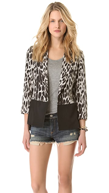 Charles Henry Leopard Box Cut Jacket