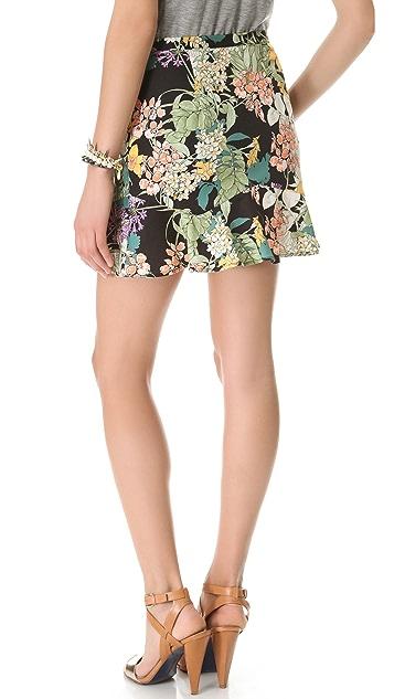 Charles Henry Flutter Hem Skirt