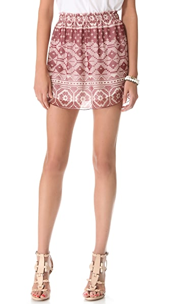 Charles Henry Patchwork Mini Skirt