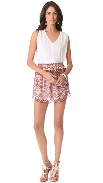 Charles Henry Patchwork Mini Skirt