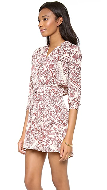 Charles Henry Gathered Button Front Dress