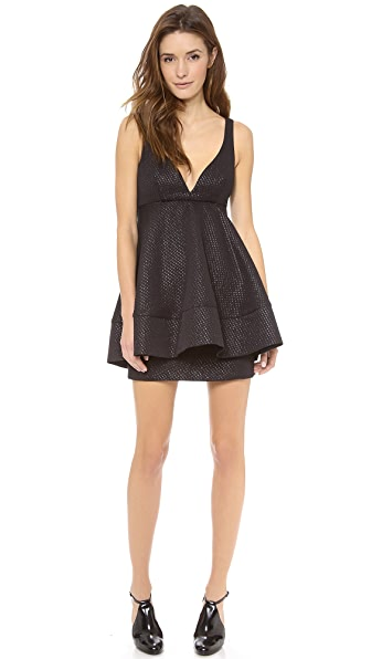 Charles Henry Metallic Tulip Dress