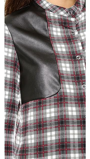 Charles Henry Long Sleeve Plaid Shirtdress