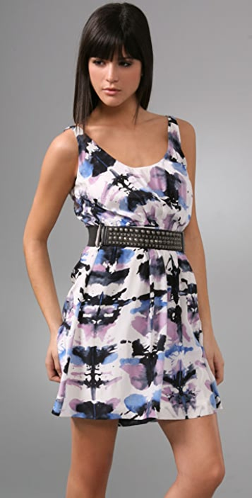 Charlotte Ronson Tank Dress with Studded Belt