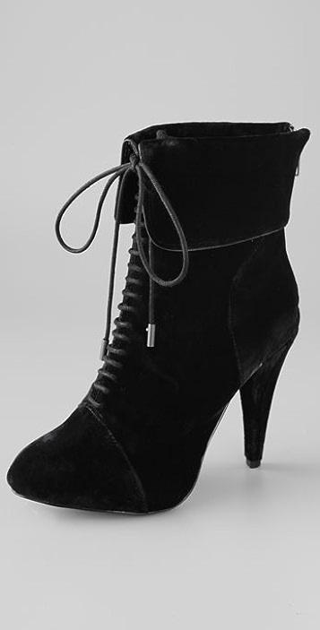 Charlotte Ronson Gretchen Velvet Booties