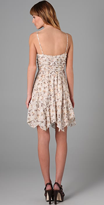 Charlotte Ronson Tiered Floral Mini Dress