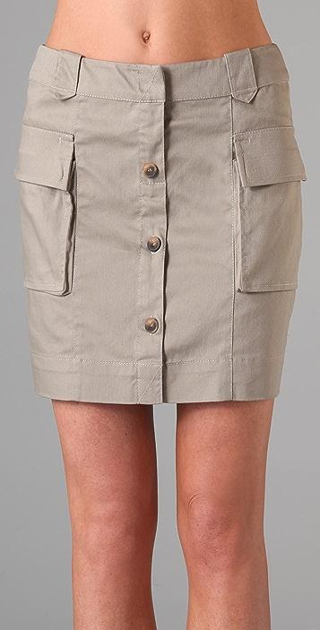 Charlotte Ronson Button Front Skirt