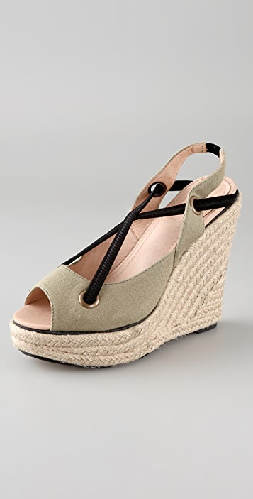 Charlotte Ronson Frances Bean Canvas Wedge Sandals