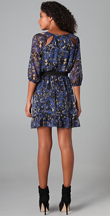 Charlotte Ronson Anastasia Floral Dress with Belt