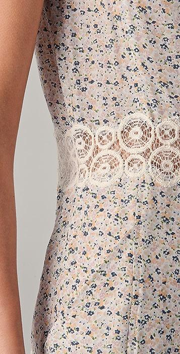 Charlotte Ronson Floral Button Front Romper