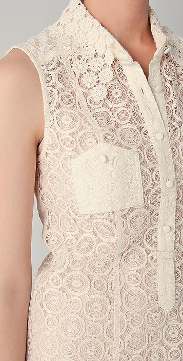 Charlotte Ronson Drop Waist Lace Dress