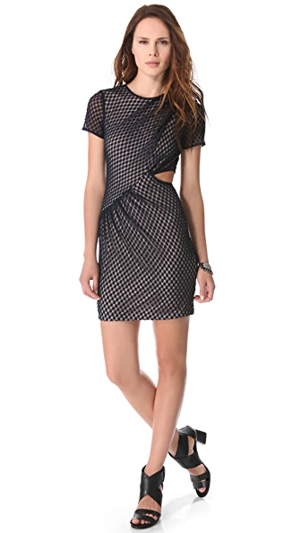 Charlotte Ronson Draped Cutout Dress