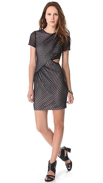 Charlotte Ronson Draped Cutout Dress