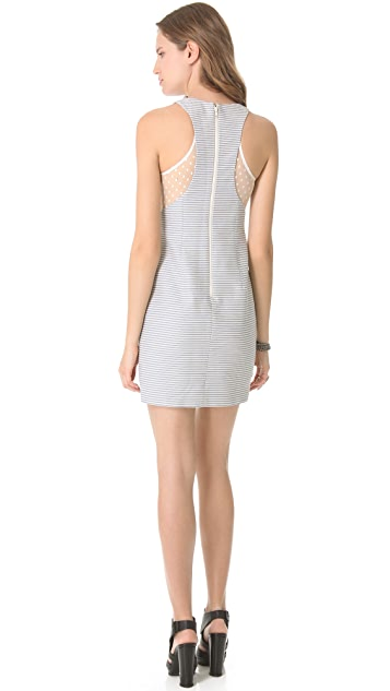 Charlotte Ronson Sheer Panel Sheath Dress