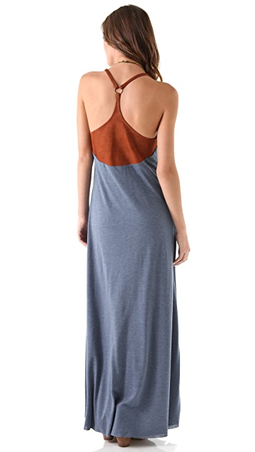 Chaser Leather Back Maxi Dress