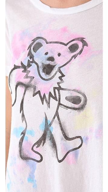 Chaser Watercolor Bear Fringe Tee