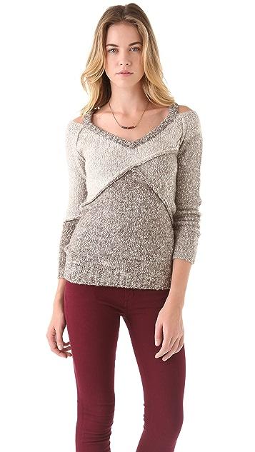 Chaser Colorblock Broken V Sweater