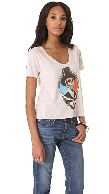 Chaser Grateful Dead Pleat Back Tee